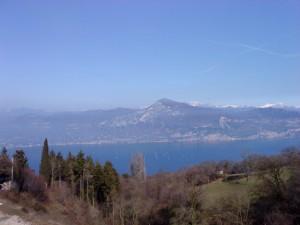 Blick von Sanzeno auf den Lago